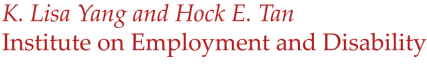 K. Lisa Yang and Hock E. Tan Institute on Employment and Disability logo